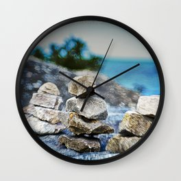 Huron Rock stack Wall Clock