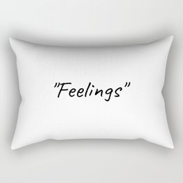 Feelings, Life quote, yoga, gym, workout, fashion Rectangular Pillow