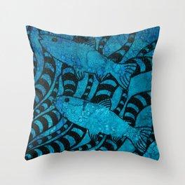Here, Fishy Fishy Throw Pillow