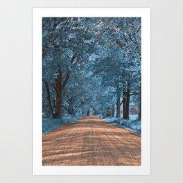 Wye Island Sapphire Road Art Print