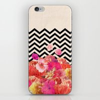 chaos iPhone & iPod Skins featuring Chevron Flora II by Bianca Green