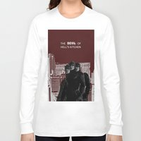daredevil Long Sleeve T-shirts featuring Daredevil by amyskhaleesi