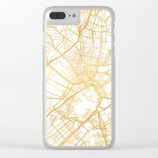 ATHENS GREECE CITY STREET MAP ART Clear iPhone Case