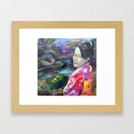 Japanese Lady Framed Art Print