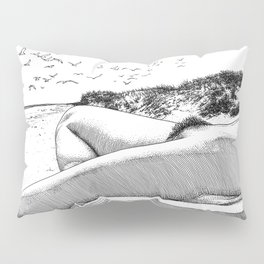 asc 967 - La plage de Draguey (Liberation on the beach) Pillow Sham