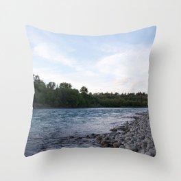 River Calgary Throw Pillow