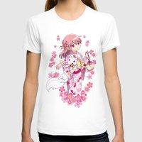 madoka magica T-shirts featuring Madoka Kaname (Yukata & Cherry Blossom edit) by Yue Graphic Design
