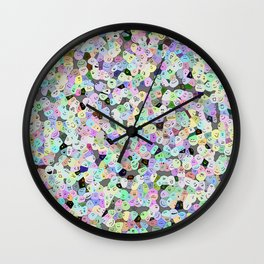 Frooty Faces Wall Clock