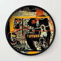 freud Wall Clocks featuring Freud III. by Zsolt Vidak
