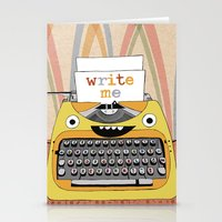 write Stationery Cards featuring write me by Asja Boros
