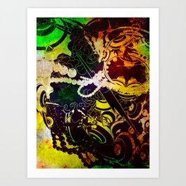 Buoyant world Art Print