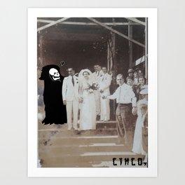 The End (black heart) Art Print