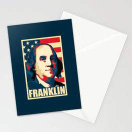 Benjamin Franklin America Pop Art Stationery Cards
