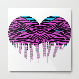 Stripes heart two Metal Print