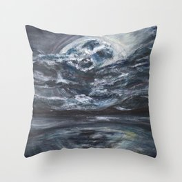 blame it on the full moon Throw Pillow