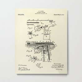 Automatic Firearm-1911 Metal Print