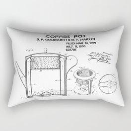 Coffee pot Goldsmith Martyn patent art 1899 Rectangular Pillow