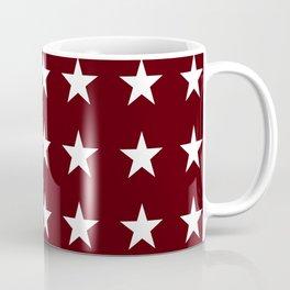 Stars on Maroon Coffee Mug