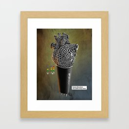 CRZN Dynamic Microphone - 003 Framed Art Print