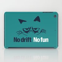 audi iPad Cases featuring No drift No fun v2 HQvector by Vehicle