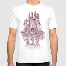 Castle in the Trees Mens Fitted Tee MEDIUM White