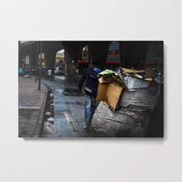 Waste picker On The Streets Metal Print