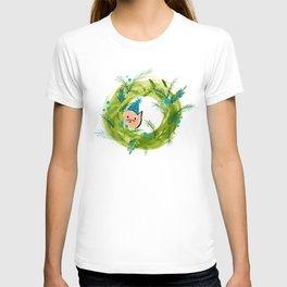 Kitty Christmas Wreath - Holiday Watercolor T-shirt