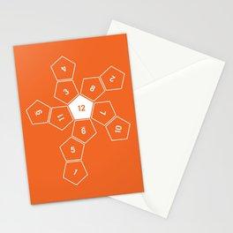 Orange Unrolled D12 Stationery Cards