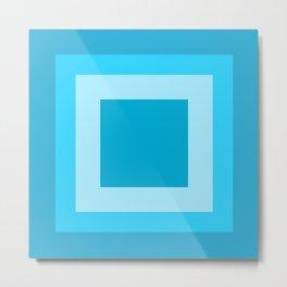 Sea Blue Square Design Metal Print