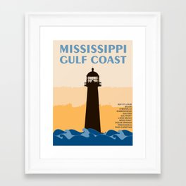 Mississippi's Gulf Coast. Framed Art Print