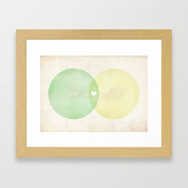 You Me Diagram Framed Art Print