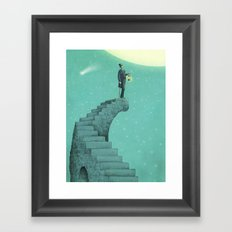 Moon Steps Framed Art Print