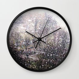 Snow in early fall(1)  Wall Clock