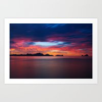 Sunset In Palawan Art Print