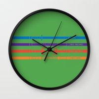 tmnt Wall Clocks featuring TMNT by mattholleydesign