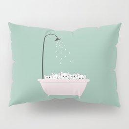 5 Little White Kittens in Bathtub Pillow Sham