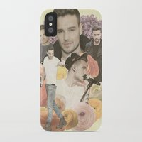 liam payne iPhone & iPod Cases featuring Liam Payne + Flowers by Ladsandstuff