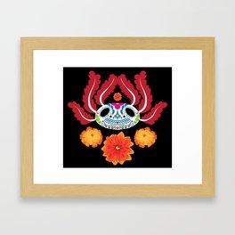 Dia de los Ajolotes Framed Art Print