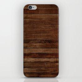 Dark Wood iPhone Skin