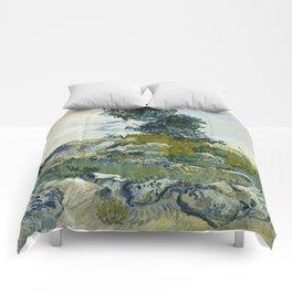 The Rocks by Vincent Van Gogh Comforters