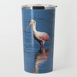 Roseate Spoonbill at Ding V Travel Mug