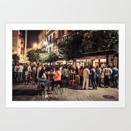 Seville in the Evening Art Print