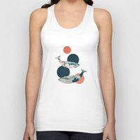 polka dots Tank Tops featuring Whales and Polka Dots by Paula Belle Flores