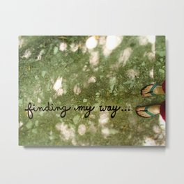 Finding My Way... Metal Print