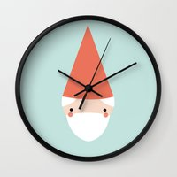 amelie Wall Clocks featuring Amelie by Juice for Breakfast
