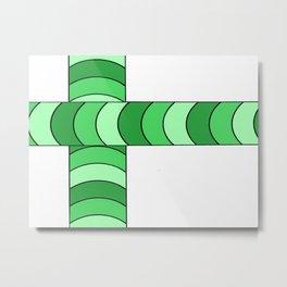 Blunt, in green Metal Print