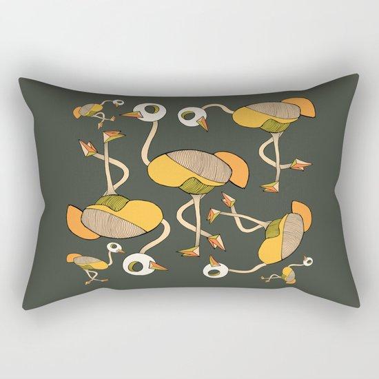 keep your head up - ostrich 3 Rectangular Pillow