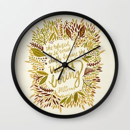 Zelda Fitzgerald – Fall Palette Wall Clock