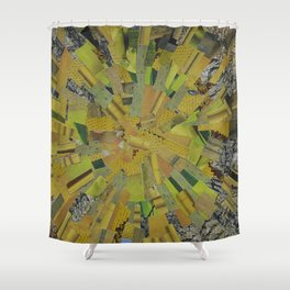 """""""The Green Energy"""" Ecologic atypic art by WHITEECO Ecologic design Shower Curtain"""