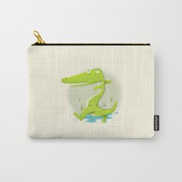 Croco Carry-All Pouch